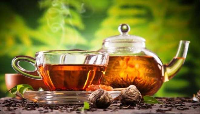 chá de porangaba com hibisco