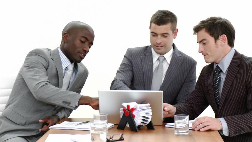 Three Attractive Young Businessmen in : vídeo stock (100% livre de direitos) 594283 | Shutterstock