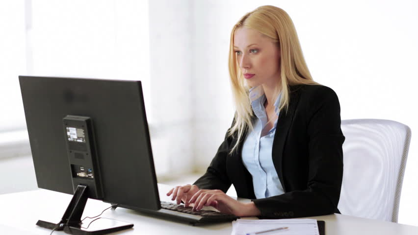 Attractive Business Woman Working with : video stock a tema (100% royalty  free) 4457861 | Shutterstock